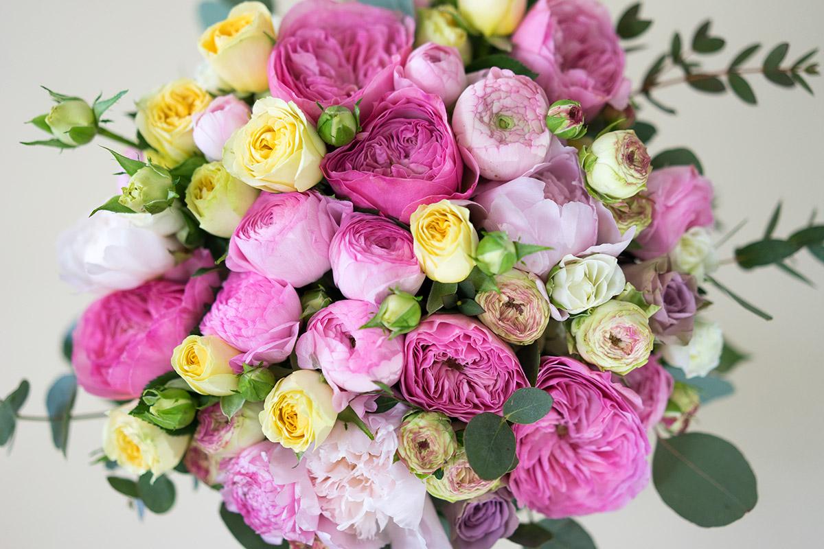 Пионовидные розы для открытки 85