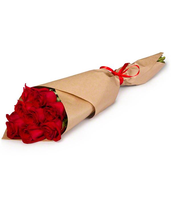 Как обернуть букет из роз